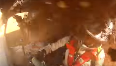 Espectacular accidente de Albert Rivera y Jesús Calleja