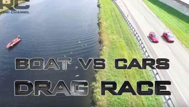 Vídeo: un Supra y un EVO, contra un 'speed boat'