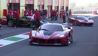 Si ver un Ferrari FXX K es complicado, ver 14...