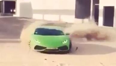 Ya tenemos tonto del día y conduce un Lamborghini Huracán