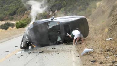 Espectacular accidente de un BMW Serie 3
