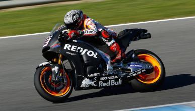 MotoGP Test Jerez (III): doble caída de Marc Márquez