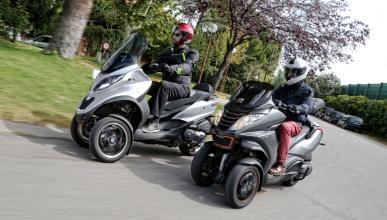 Prueba Piaggio MP3 500 LT vs Peugeot Metropolis 400 RS