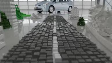 ¿Cuántas fichas de dominó usó Toyota para este anuncio?