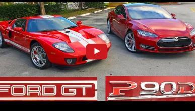 Tesla Model S planta cara al Ford GT, ¿o será al revés?