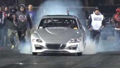 El Mazda RX-8 con tres turbos que destroza el 1/4 de milla