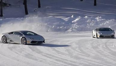 ¿Se puede esquiar con un Lamborghini Huracán?