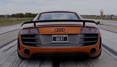 ¿Es un cohete? ¿Un avión? ¡No, es un Audi R8!