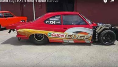 Loco es lo único que describe el sonido de este Mazda RX-2