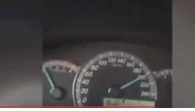 Graba su propio accidente a 200 km/h
