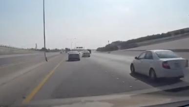 Una discusión acaba en una persecución en una autopista