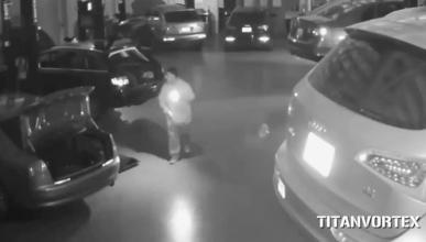 Así se roban siete Audi