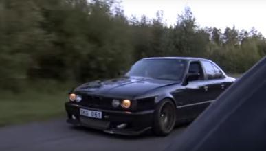 Este viejo BMW M5 corre más que un Bugatti Veyron