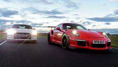 Nissan GT-R contra Porsche 911 GT3 en un duelo de infarto