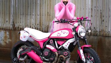 Ducati Scrambler Hello Kitty: la gente está muy loca