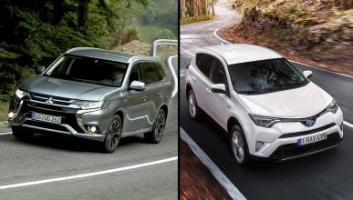 ¿Cuál es mejor, Outlander PHEV o Toyota RAV4 Hybrid?