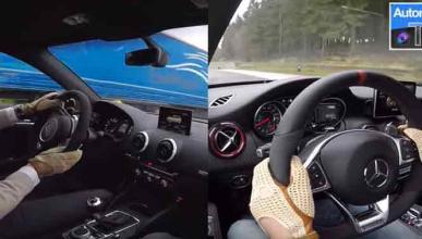 Mercedes-AMG A45 2016 vs Audi RS3. 'Fight'!