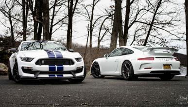 Porsche 911 GT3 y Mustang Shelby GT350, la misma filosofía