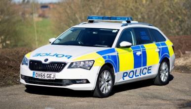 El nuevo coche de la unidad canina de la Policía británica