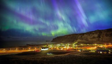 auroras boreales circulo polar artico