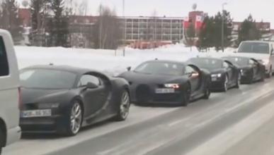 Algo que no verás a menudo: cuatro Bugatti Chiron juntos