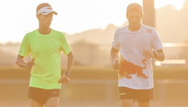 entrenamiento triatlón de Carlos Sainz y Mario Mola