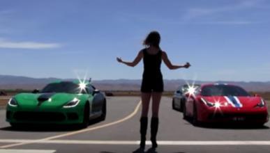 Drag race: Dodge Viper SRT contra Ferrari 458 Speciale