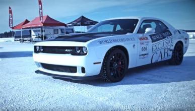 Récord personal sobre hielo del Dodge Challenger Hellcat
