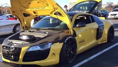 Liberty Walk viste al Audi R8 y le queda así de bien
