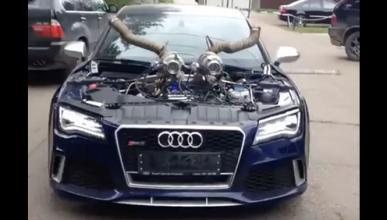 Vídeo: este intimidante Audi RS7 merienda Bugattis