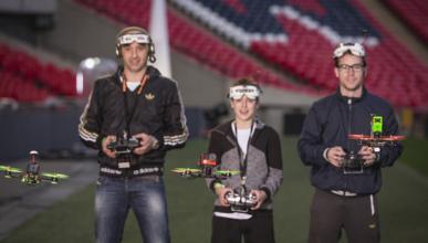 participantes carrera drones