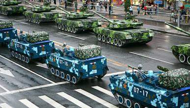 tanques camuflados digitalmente plaza tiananmen