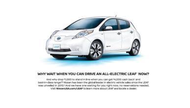 Nissan se burla del Tesla Model 3