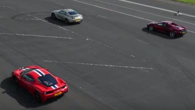 Drag Race total: Nissan GT-R, Ferrari 458 y McLaren 650S