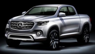 Cazado por primera vez el pick-up de Mercedes