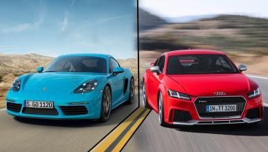 ¿Cuál es mejor, el Porsche 718 Cayman o el Audi TT RS 2016?