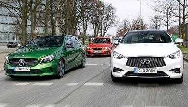 Duelo: Infiniti Q30 vs BMW Serie 1 vs Mercedes Clase A