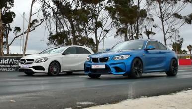 Drag race: BMW M2 Coupé contra Mercedes-AMG A45