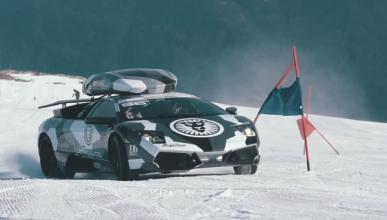 A este Lamborghini le encanta esquiar