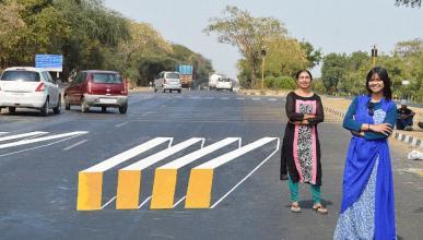 El paso de cebra en 3D que salva vidas en la India