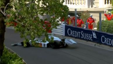 Vídeo: una grúa lanza un McLaren de Fórmula 1