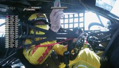 Multado por usar el móvil… en el coche de carreras