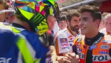 Valentino Rossi y Marc Márquez se dan la mano: ¡Por fin!
