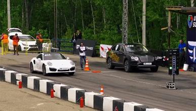 Vídeo: el Bentley Bentayga reta al Porsche 911 Turbo