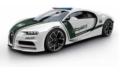 Así luciría el Bugatti Chiron de la Policía de Dubai