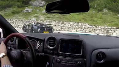 Persecución a dos Pagani Zonda en una carretera de montaña