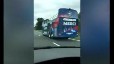Humillan al bus que Francia preparó para ser campeón