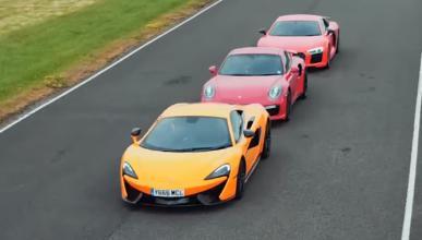 Duelo en circuito: McLaren 570S contra 911 Turbo S y R8