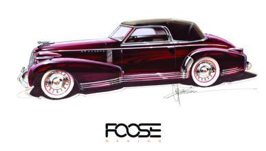 Chip Foose dará vida a un boceto de Cadillac de 1935