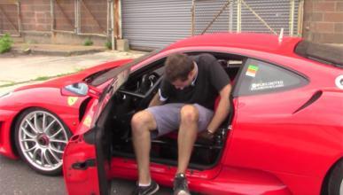 Conducir un Ferrari de carreras por la calle es horroroso